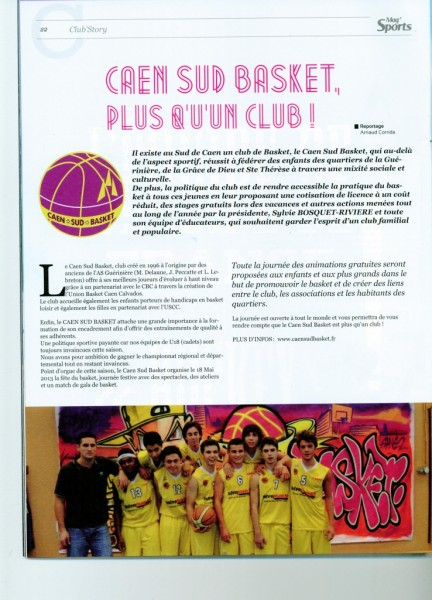 Mag sports - avril 2013